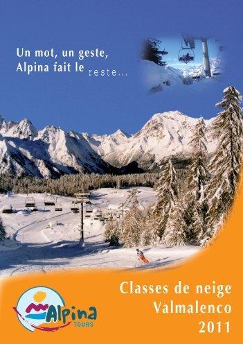 Classes de neige Valmalenco 2011 - Alpina
