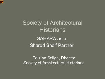 Society of Architectural Historians - CNI