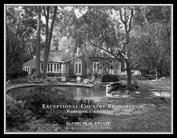 EXCEPTIONAL COUNTRY PROPERTY Washington, Connecticut ...