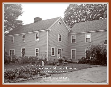 SOLOMON MINOR HOUSE Woodbury, Connecticut SOLOMON ...
