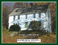dAnIEL LoRd houSE dAnIEL LoRd houSE - Klemm Real Estate, Inc.