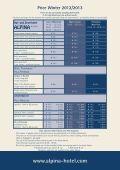 Pricelist-Winter-D12-13 – PDF - Hotel Alpina in Bad Hofgastein - Page 2