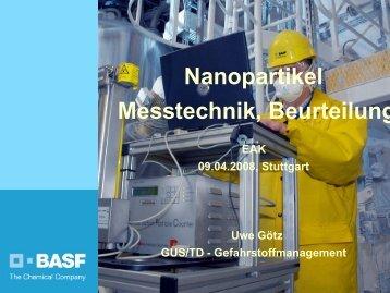 Nanopartikel, Messtechnik, Beurteilung - Bua-verband.de