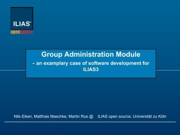 Approach to software development - Ilias