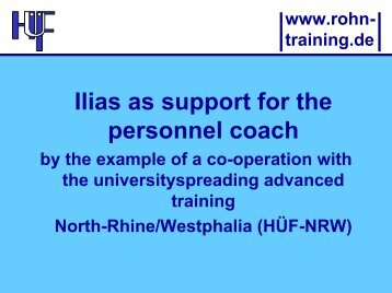 Ilias as support for the personnel coach