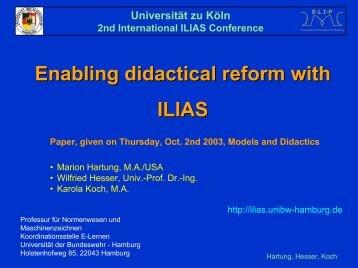 Universität Duisburg Gesellschaft für Medien in der ... - Ilias