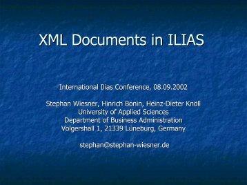 ?? XML, ILIAS ??