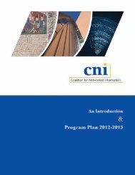 Download PDF of CNI 2012-13 Program Plan