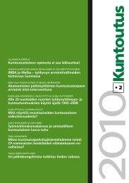 Lataa lehden 2/2010 pdf-versio tästä - Kuntoutussäätiö