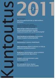 Lataa lehden 2/2011 pdf-versio tästä - Kuntoutussäätiö