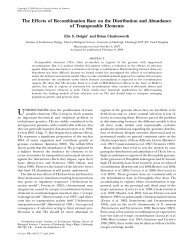 The Effects of Recombination Rate on the Distribution ... - Genetics