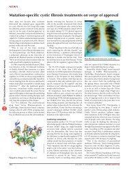 Mutation-specific cystic fibrosis treatments on verge ... - eliedolgin.com