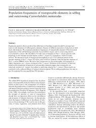 Population frequencies of transposable elements in ... - Elie Dolgin