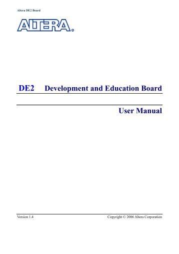 De2 Board manual