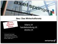 Folie 1 - Axel Springer Schweiz