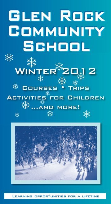 Page 1 COMMUNITy SCHOOL @ WINTER 2D12 COURSES ...