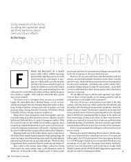 AgAinst the ElEmEnt - Elie Dolgin