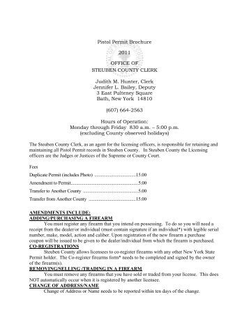 Application For Transfer Of Pistol Permit Records