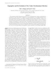 Segregation and the Evolution of Sex Under ... - Genetics