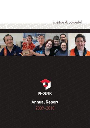 Annual Report 2009–2010 - Phoenix Society