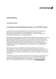 Medienmitteilung AUTO BILD CH 14.09.09