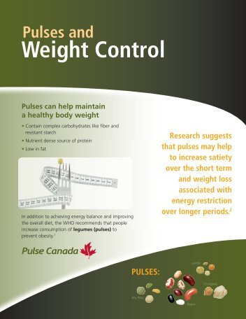 Pulses and Weight Control - Pulse Canada