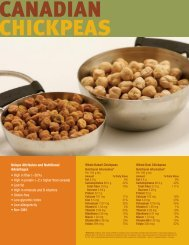 Canadian Chickpeas - Pulse Canada