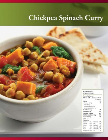 Chickpea Spinach Curry - Pulse Canada