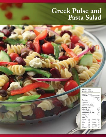 Greek Pulse and Pasta Salad - Pulse Canada