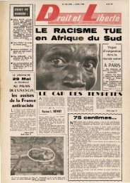 LE RACISME TUE en Afrique du Sud - Archives du MRAP