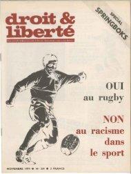au rughy au raCIsme dans le sport - Archives du MRAP
