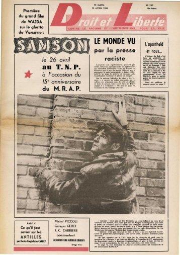 LE MONDE VU - Archives du MRAP