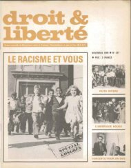 RACISME ET VOUS - Archives du MRAP