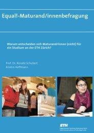 Bericht zur Umfrage - Equal! - ETH Zürich