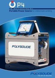 Portable Power Source for orbital tube welding - Polysoude