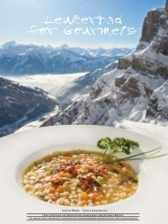 Leukerbad for Gourmets - Best of Swiss Gastro