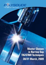 Master Classes in Narrow Gap TIG/GTAW Techniques ... - Polysoude