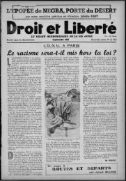 L'EPOPEE de NEGBA, PORTE du DÉSERT . ij .. - Archives du MRAP