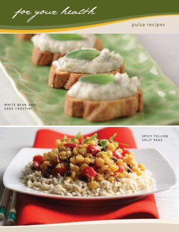 White Bean Crostini / Spicy Split Peas - Pulse Canada