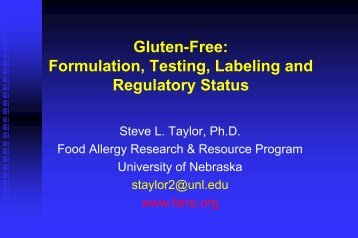 Gluten-Free: Formulation, Testing, Labeling And ... - Pulse Canada
