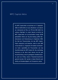 MPC Capital-Aktie