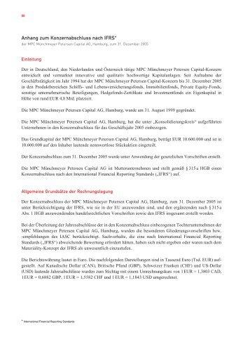 Anhang zum Konzernabschluss nach IFRS*