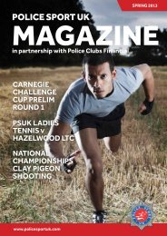 PSUK Magazine April 2013 - Police Sport UK