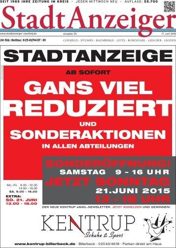 Stadt Anzeiger Coesfeld KW 25
