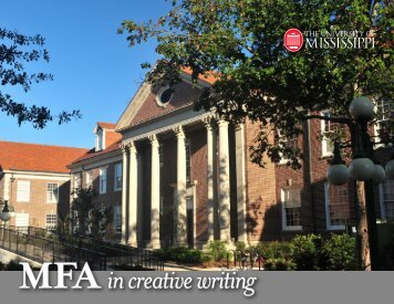 Download Printable MFA Brochure - University of Mississippi