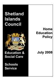 Home Education Policy - Shetland Islands Council