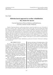 Biobehavioural approach in cardiac rehabilitation - Przegląd ...