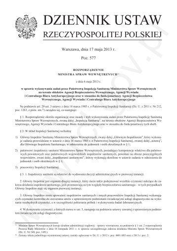 Dz. U. z 2013 r. poz. 577 - CBA - Centralne Biuro Antykorupcyjne