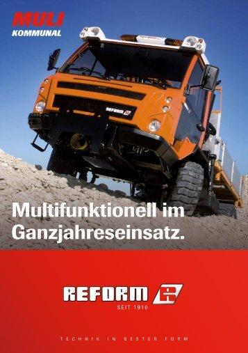 Multifunktionell im Ganzjahreseinsatz. - Reform