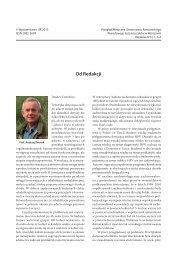Od Redakcji - Przegląd Medyczny Uniwersytetu Rzeszowskiego